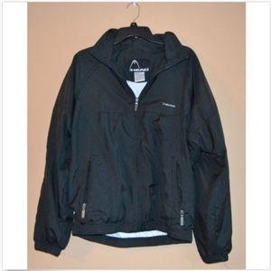Head Black Tennis Warm Up Wind Jacket w/ Hoodie